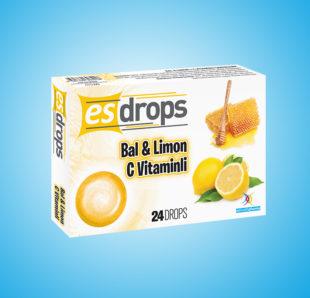 Esdrops Bal & Limon ve C Vitamini Pastil