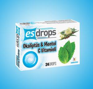 Esdrops Okaliptüs, Mentol, C Vitamini Pastil
