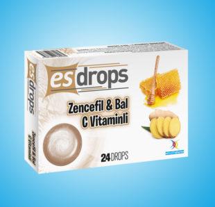 Esdrops Zencefil & Bal ve C Vitamini Pastil