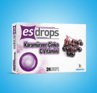Esdrops Karamürver-Çinko C Vitamin Pastil